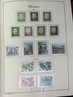 Tcstamps 3x Album Monaco Timbre-poste Collection Phare Mnh Complete Près