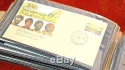 Timbre Australien Premier Numéro De Jour Collection 100 Enveloppes Dans L'album 1987 88 89
