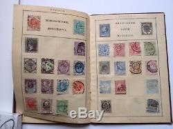 Timbres Collection Rare Album Vintage Des Années 1900 Europe Amérique Afrique Asie Austr Vg