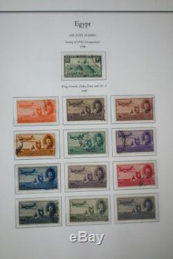Timbres D'egypte Early Mint / Collection Utilisée Entre 1800 Et 1940 Dans Des Albums