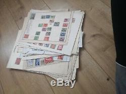 Timbres Joblot Monde Australie Etats-unis Livre Album Pièces De Collection De Cartes Postales Cachet De La Poste