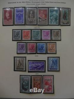 Trieste Une Belle Collection Principalement De Menthe Sur Les Pages D'album Scott Catalogue 3400 $ +