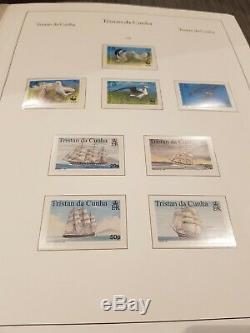 Tristan Da Cunha 1952-2015 Stamp Collection Complète En 2 Albums Kabe Mint Muh