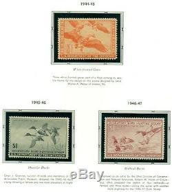 Us Duck Stamp Collection # Rw1-73, Complet À 2006, Nh Dans L'album Scott 5779 $