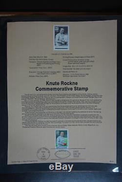 Us Postal Service Massive Souvenir Officiel Page 18 Album Collection Stamp Fdc