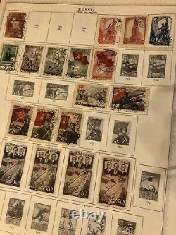 Vieille Russie, Collection De Timbres Sur La Page De L'album Quelques Objets Rares Total Stamps 1511