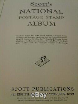 Vintage Us Stamp Collection Scott National Album 1275+ Timbres 1967 Thru Charnières