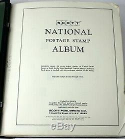 Vintage Us Stamp Collection Scott National Album 1950+ Timbres À 1978 Charnières