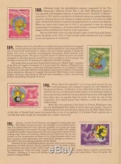 Walt Disney-wwd-7 Ww 2- Quatre Insignes De Combat Des Albums De Timbres Et Withstamps Les Box. Rare