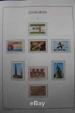Zimbabwe Africa Mnh 1980-2015 Collection De Timbres D'album Phare Premium